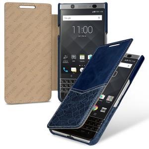 Кожаный чехол горизонтальная книжка (2 вида премиум нат. кожи) для BlackBerry KEYone