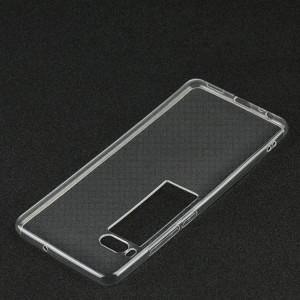Силиконовый глянцевый транспарентный чехол для Meizu Pro 7 Plus