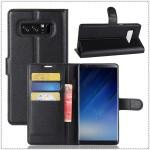 Чехол портмоне подставка на силиконовой основе с отсеком для карт на магнитной защелке для Samsung Galaxy Note 8