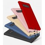 Пластиковый непрозрачный матовый чехол с допзащитой торцев для Samsung Galaxy Note 8