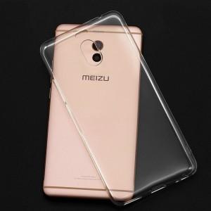 Силиконовый глянцевый транспарентный чехол для Meizu M6 Note