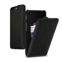 Кожаный чехол вертикальная книжка (премиум нат. кожа) для OnePlus 5  Черный