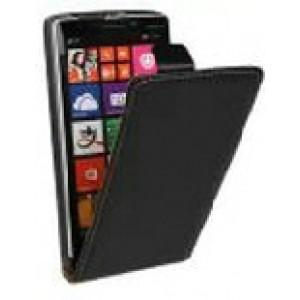 Чехол вертикальная книжка на клеевой основе на магнитной защелке для Elephone S8  Черный