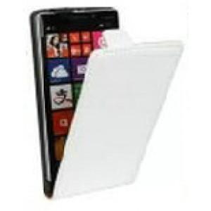 Чехол вертикальная книжка на клеевой основе на магнитной защелке для Elephone S8  Белый