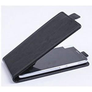 Чехол вертикальная книжка на клеевой основе на магнитной защелке для Doogee BL7000  Черный