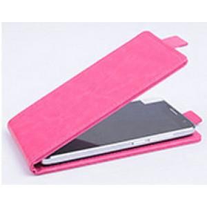 Чехол вертикальная книжка на клеевой основе на магнитной защелке для Doogee BL7000  Розовый