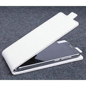 Чехол вертикальная книжка на клеевой основе на магнитной защелке для Doogee BL7000  Белый
