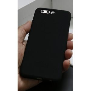 Силиконовый матовый непрозрачный премиум софт-тач чехол для Huawei P10