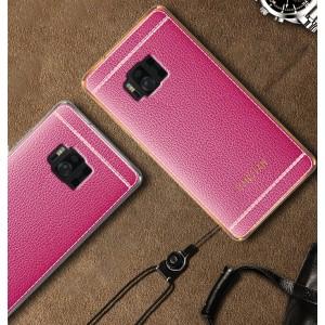 Силиконовый матовый непрозрачный чехол с текстурным покрытием Кожа для ASUS ZenFone AR  Розовый