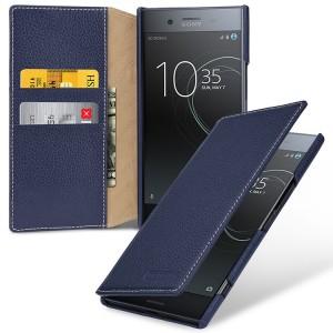 Кожаный чехол портмоне (премиум нат. кожа) для Sony Xperia XZ Premium