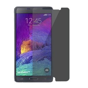 Антишпионское износоустойчивое сколостойкое олеофобное защитное стекло-пленка для Samsung Galaxy Note 4