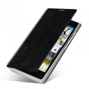 Винтажный чехол горизонтальная книжка подставка на пластиковой основе для Huawei Honor 6  Черный