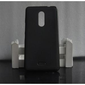 Силиконовый матовый полупрозрачный чехол для BQ Strike Selfie Max Черный