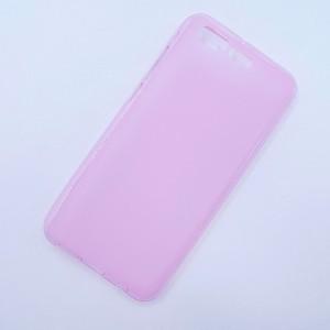 Силиконовый матовый полупрозрачный чехол для ASUS ZenFone 4 Pro  Розовый