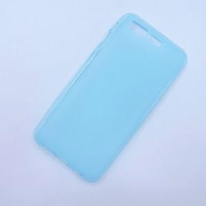 Силиконовый матовый полупрозрачный чехол для ASUS ZenFone 4 Pro  Голубой