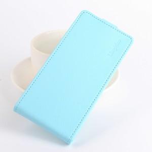 Чехол вертикальная книжка на силиконовой основе с отсеком для карт на магнитной защелке для ASUS ZenFone 4 Selfie Pro Голубой