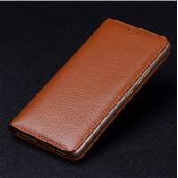 Кожаный чехол горизонтальная книжка (премиум нат. кожа) для Meizu Pro 6 Plus