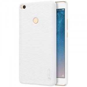 Пластиковый непрозрачный матовый нескользящий премиум чехол с повышенной шероховатостью для Xiaomi Mi Max 2  Белый