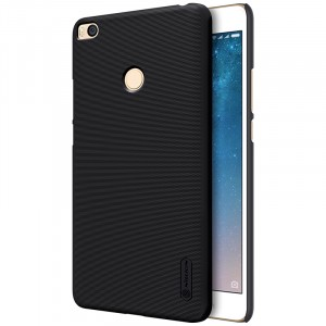 Пластиковый непрозрачный матовый нескользящий премиум чехол с повышенной шероховатостью для Xiaomi Mi Max 2  Черный
