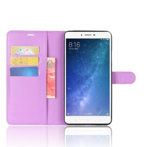 Чехол портмоне подставка на силиконовой основе на магнитной защелке для Xiaomi Mi Max 2  Фиолетовый
