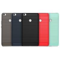 Силиконовый матовый непрозрачный дизайнерский фигурный чехол текстура Металлик для Xiaomi Mi Max 2