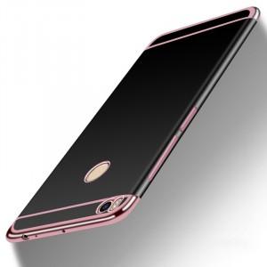 Силиконовый матовый непрозрачный дизайнерский чехол для Xiaomi Mi Max 2  Розовый