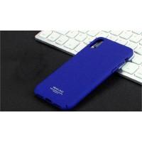 Пластиковый непрозрачный матовый чехол с повышенной шероховатостью для Iphone X 10  Синий