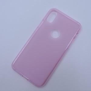 Силиконовый матовый полупрозрачный чехол с отверстием для лого для Iphone X 10/XS