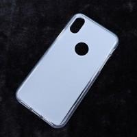 Силиконовый матовый полупрозрачный чехол с отверстием для лого для Iphone X 10 Белый