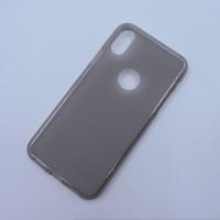 Силиконовый матовый полупрозрачный чехол с отверстием для лого для Iphone X 10 Серый