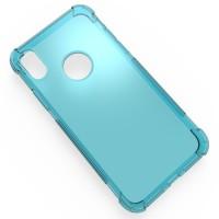 Силиконовый полупрозрачный чехол с усиленными углами для Iphone X 10 Голубой