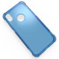 Силиконовый полупрозрачный чехол с усиленными углами для Iphone X 10 Синий