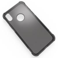 Силиконовый полупрозрачный чехол с усиленными углами для Iphone X 10 Серый