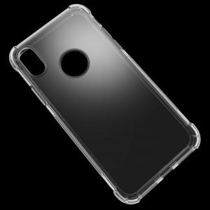 Силиконовый глянцевый полупрозрачный чехол с усиленными углами для Iphone X 10/XS Белый