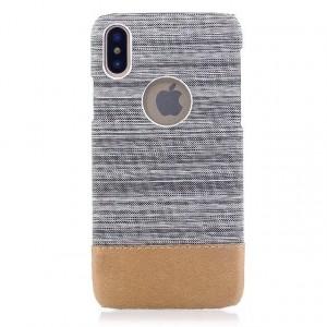 Пластиковый непрозрачный чехол с тканевым покрытием для Iphone X 10/XS Белый