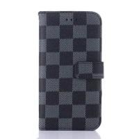 Чехол портмоне подставка текстура Клетка на пластиковой основе на магнитной защелке для Iphone X 10  Черный