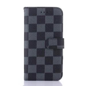 Чехол портмоне подставка текстура Клетка на пластиковой основе на магнитной защелке для Iphone X 10
