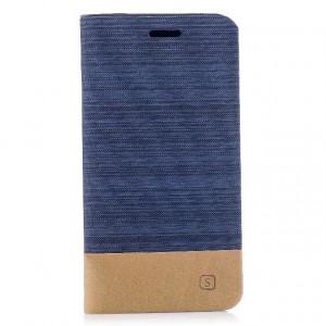 Чехол горизонтальная книжка подставка с тканевым покрытием на силиконовой основе с отсеком для карт для Iphone X 10