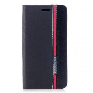 Чехол горизонтальная книжка подставка текстура Линии на силиконовой основе с отсеком для карт для Iphone X 10