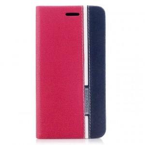 Чехол горизонтальная книжка подставка текстура Линии на силиконовой основе с отсеком для карт для Iphone X 10/XS Красный