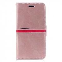 Чехол горизонтальная книжка подставка текстура Линии на силиконовой основе с отсеком для карт на магнитной защелке для Iphone X 10  Розовый