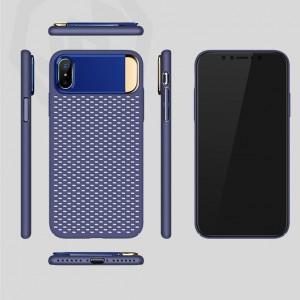 Пластиковый непрозрачный матовый чехол с подставкой и улучшенной защитой элементов корпуса для Iphone X 10
