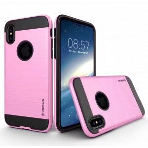 Противоударный двухкомпонентный силиконовый матовый непрозрачный чехол с поликарбонатными вставками экстрим защиты для Iphone X 10/XS
