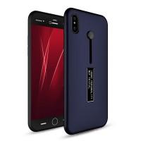 Силиконовый матовый непрозрачный дизайнерский фигурный чехол для Iphone X 10 Синий