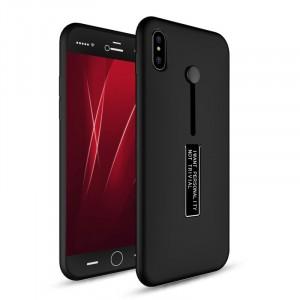 Силиконовый матовый непрозрачный дизайнерский фигурный чехол для Iphone X 10/XS Черный
