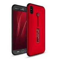 Силиконовый матовый непрозрачный дизайнерский фигурный чехол для Iphone X 10 Красный
