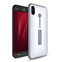 Силиконовый матовый непрозрачный дизайнерский фигурный чехол для Iphone X 10 Белый