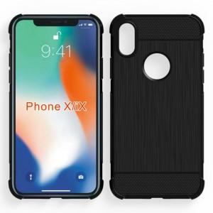 Силиконовый матовый непрозрачный дизайнерский фигурный чехол с усиленными углами для Iphone X 10/XS Черный