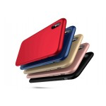 Силиконовый матовый непрозрачный чехол для Iphone X 10