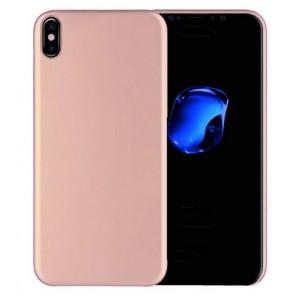 Силиконовый матовый непрозрачный чехол для Iphone X 10/XS Розовый